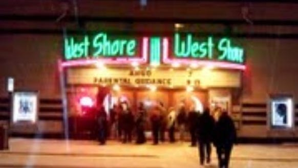 The West Shore theater, just across the bridge from