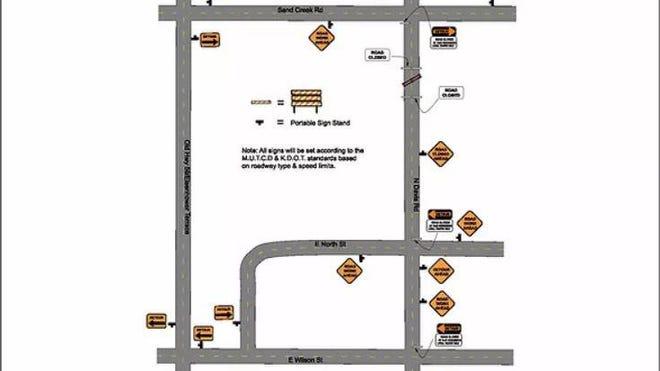 The proposed detour/traffic plan.