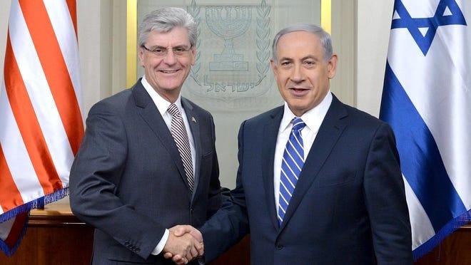 Governor Phil Bryant and Israeli Prime Minister Benjamin Netanyahu.