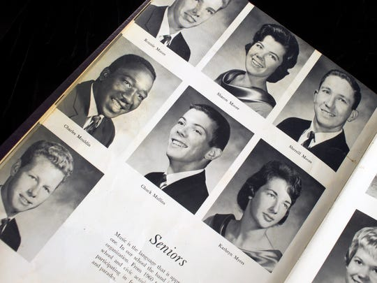 Charles Moulden is seen in his senior photo in the 1964 Sevier County High School yearbook. His family name is misspelled.