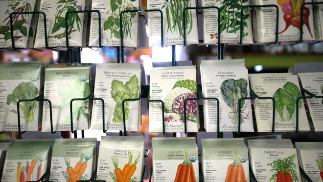 Various packages of seeds are displayed on Thursday at San Juan Nurseries in Farmington.