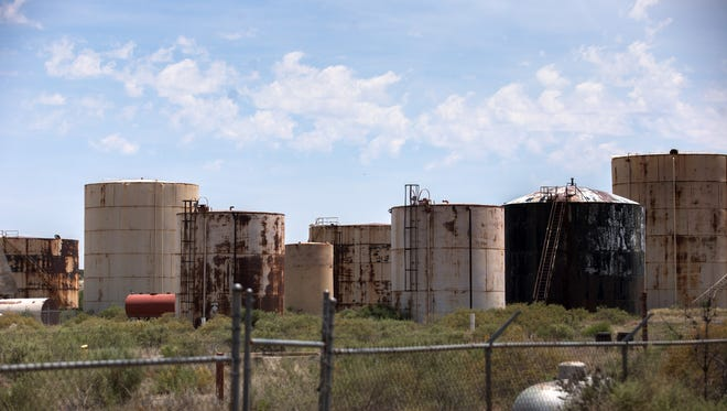 The abandoned Thriftway Refinery is located on County Road 5500 south of Bloomfield. County officials are considering adopting a measure that would force owners of such sites to clean them up after they are closed.