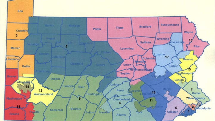Pa. gerrymandering case: Should one person represent York, Harrisburg and Lancaster?