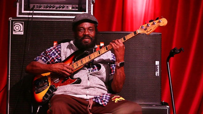 """Aston """"Family Man"""" Barrett of The Wailers performs at the Byron Bay Bluesfest in Australia earlier this year."""
