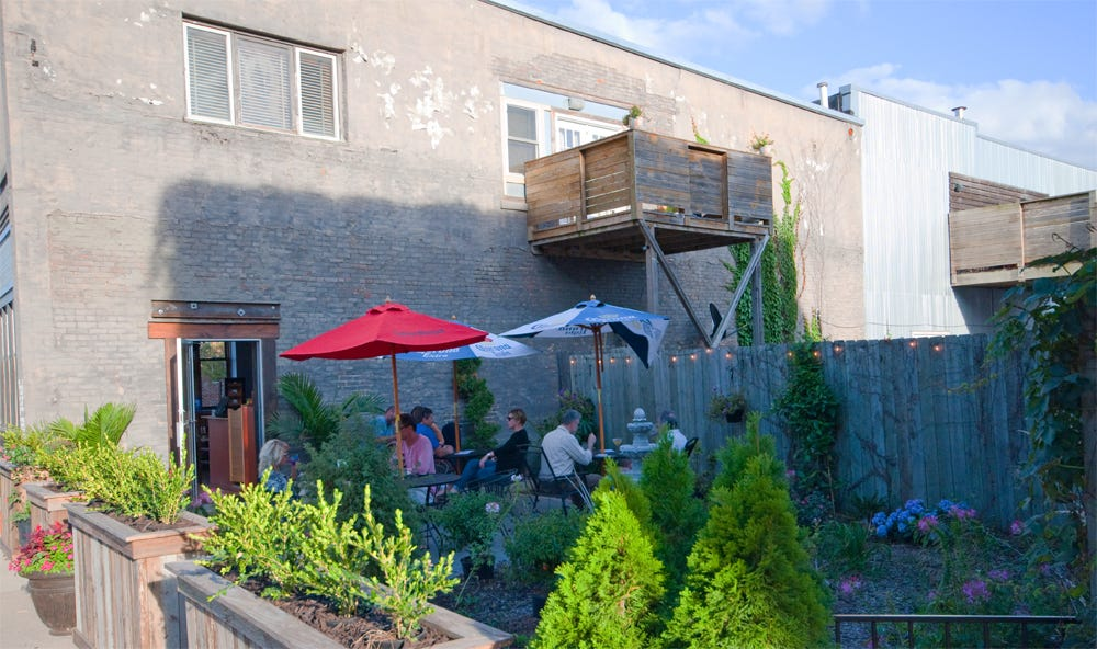 Ceviche Baru0027s Patio In The East Village Features Shady