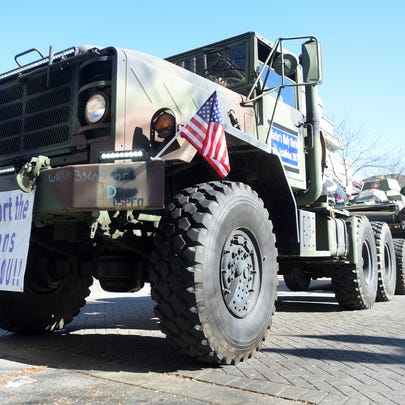 Veterans are honored Saturday, Nov. 5, 2016 with a