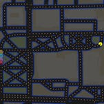 "To celebrate the first day of April, Google Maps is allowing users to play the famous ""Pac-Man"" game on the streets of their favorite cities. Pictured is a screen capture of Pac-Man near Tapawingo Park and the John T. Meyers Pedestrian Bridge."