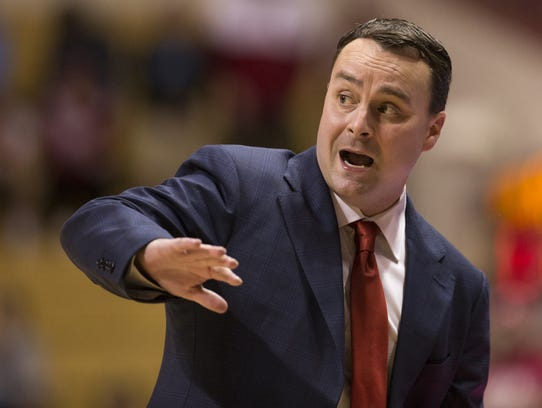 Archie Miller, head coach of Indiana men's basketball