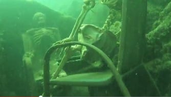 """A La Paz County Sheriff's diver responding to a report of human remains instead found a """"skeleton party"""" at the bottom of the Colorado River."""