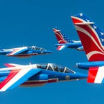 View the Melbourne Air Show aircraft this week as they fly into Melbourne