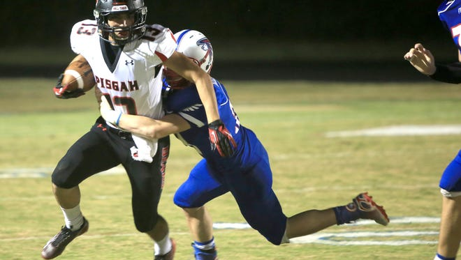 Pisgah's Jesse Martinez runs with the ball Friday in Hendersonville.
