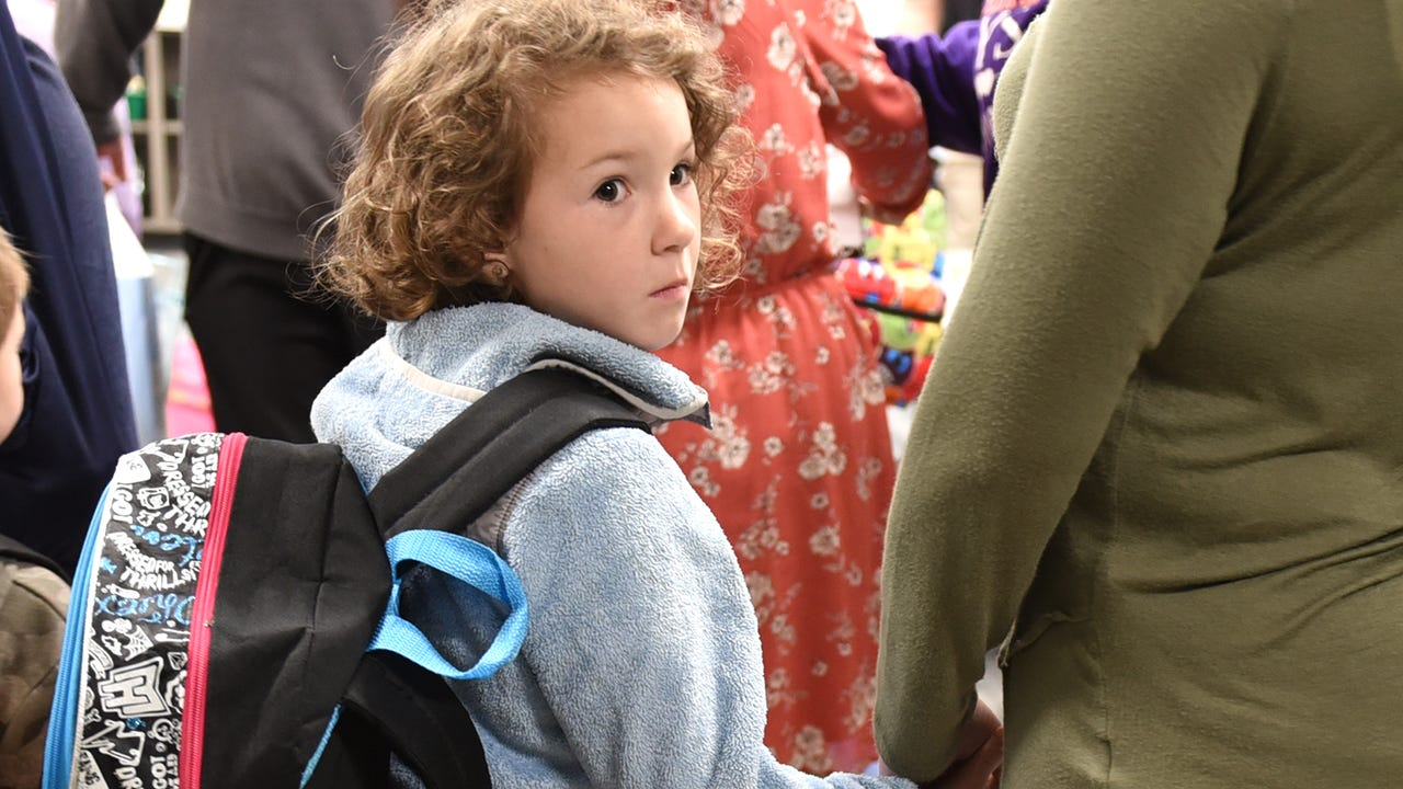 VIDEO - First day of school for Pearson Elementary - the brand-new school in the Lyon School District