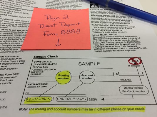 How to avoid trouble with direct deposit of tax refunds