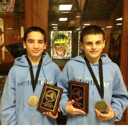 Matt Grippi (left) and Grant Cuomo (right) pose with