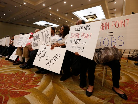Proponents for both sides of Indian Point  attend a