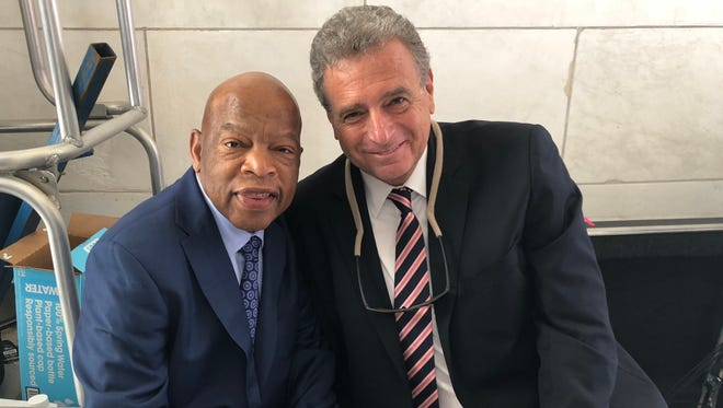 Congressman and long-time civil rights activist John Lewis, left, with Nashville public relations executive John Seigenthaler backstage June 6, 2018, at a Washington ceremony marking the 50th anniversary of the assassination of former U.S. Sen. Robert F. Kennedy