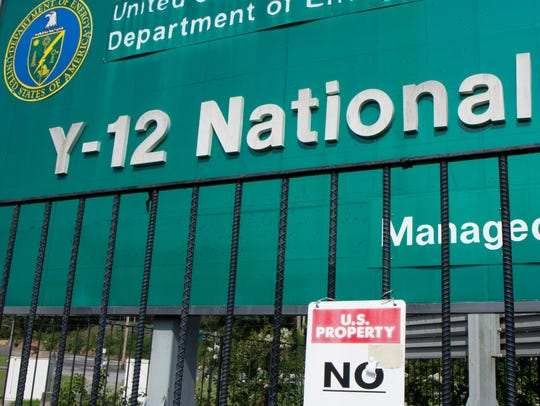 Signs warn against trespassing onto the  Y-12 National
