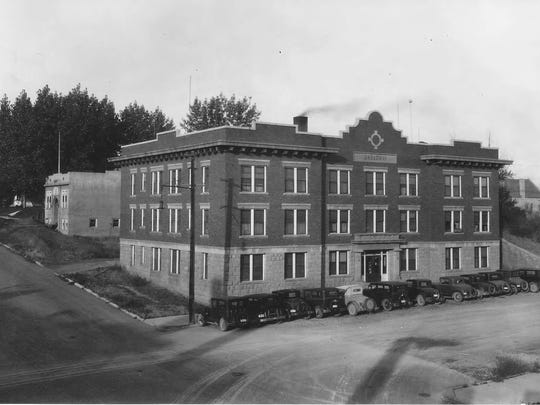 The Broadway Apartments, pictured in about 1930, were built in 1913 in Lewistown.