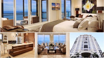 The interior of penthouse 2201 at the Seasons at Naples Cay. The living space totals 13,000 square feet and has five bedrooms and five full baths. The penthouse, located at 81 Seagate Drive in Naples, Fla., recently sold for $14,750,000.