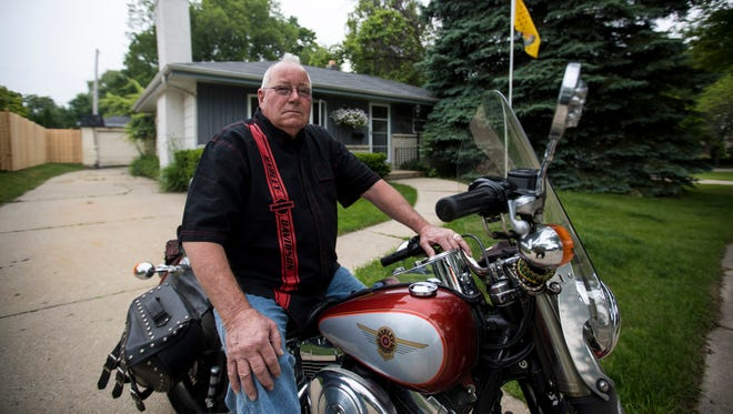 """Ted Palmatier owns a 2000 Harley-Davidson Fat Boy motorcycle, which he has had for about 11 years. He is in favor of President Donald Trump in his battle with Harley's decision to move some production. """"That's going to kill the brand,"""" said Palmatier. """"I don't think its good for business and this corporation."""""""