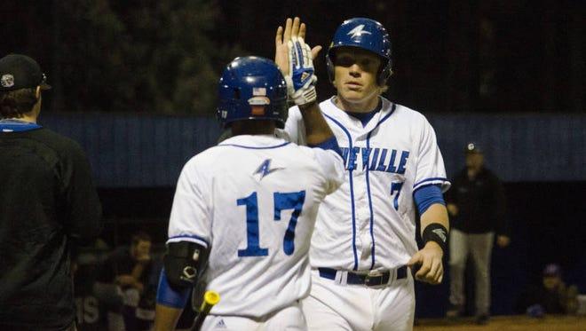 Erwin alum Hunter Bryant (7) is a senior for the UNC Asheville baseball team.