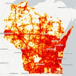 Map: Where Wisconsin drivers hit deer