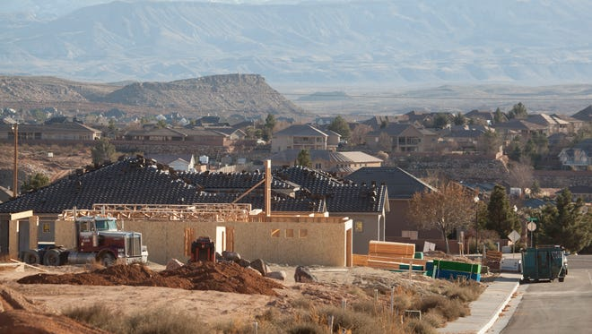 Residential development continues in the Little Valley area Wednesday, Dec. 16, 2015.