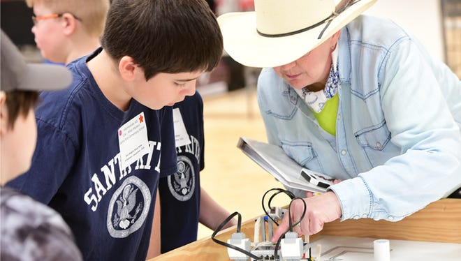 The Robotics Competition at the San Angelo Stock Show and Rodeo.