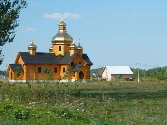 This is a typical wooden church in the Carpathians