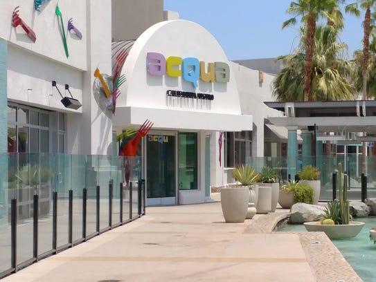 The outside of Acqua California Bistro located at The