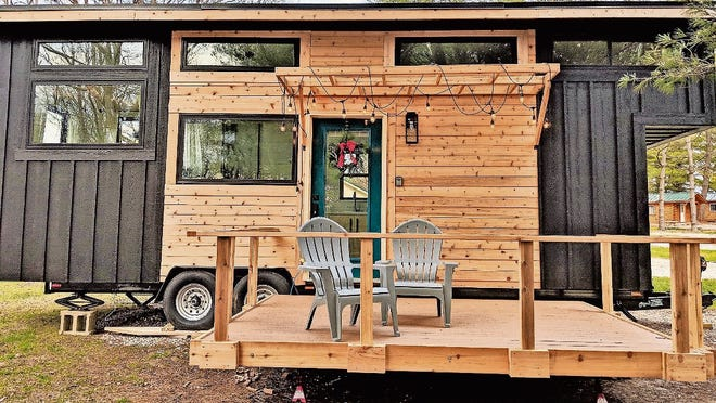 Enjoy serene lake views and all the comforts of home at the Hocking Hills Tiny Houses.