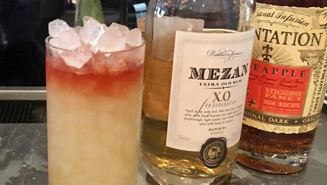 SPF-30 with plantation pineapple rum, Mezan XO rum, grapefruit oleo-saccharum lime and angostura bitters.