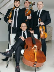 The Amernet String Quartet (clockwise from top left)