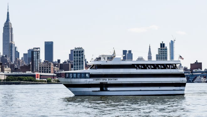 The Cornucopia Destiny will take 241 John Jay Middle School students and 28 chaperones on a dinner cruise down the Hudson to NYC.