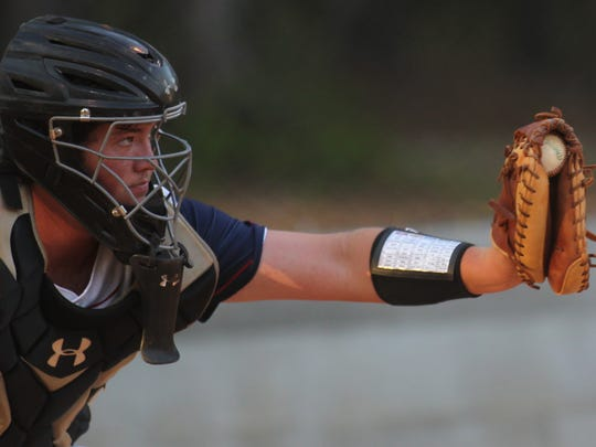 Wakulla Christian catcher Jaren Lawhon frames a pitch.