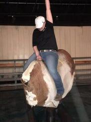 The mechanical bull at Whiskey Barrel Saloon in Lansing