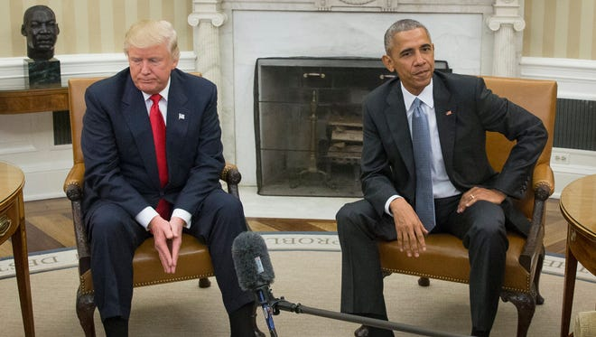 President Obama and President-elect Donald Trump on Nov. 10, 2016.