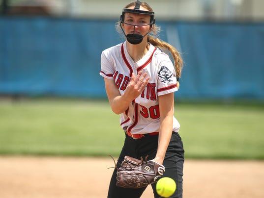 Cardington softball Casey Bertke