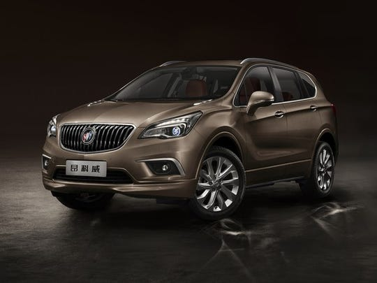 A Buick Envision crossover SUV as sold in China.