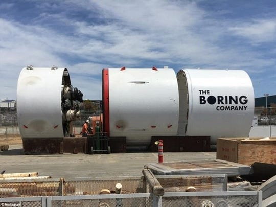 A look at a tunnel made by Elon Musk's The Boring Company, whose mission is to drill tunnels under big cities to provide a new form of transportation.