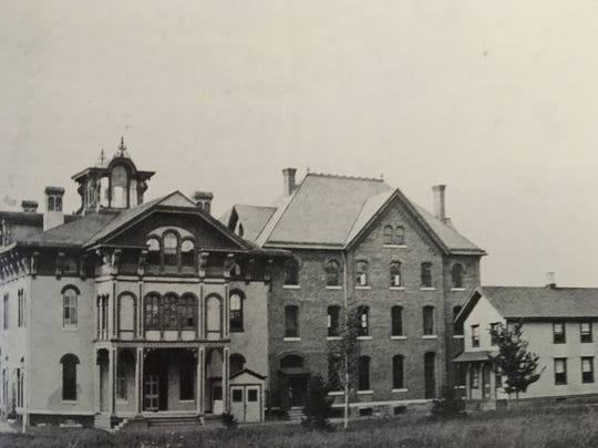 The original homes on the complex near Conklin Avenue,