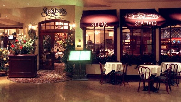 Sterling's Seafood Steakhouse, long the flagship restaurant