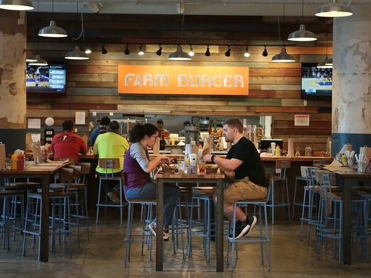 The small farm-to-table burger chain Farm Burger has grown an outlet in Crosstown Concourse touting a simple menu of grassfed beef burgers, fries, salads, and shakes.