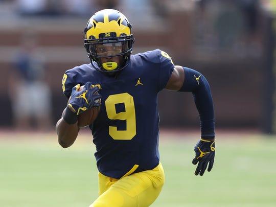 Michigan's Donovan Peoples-Jones runs back a punt 79