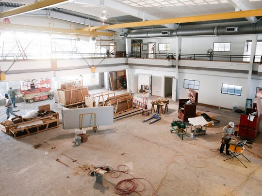 Construction continues on the new enrichment center at Episcopal School of Acadiana's Lafayette campus Dec.1, 2016. The center will open in January. It will have resources including robotics, engineering, history and more.