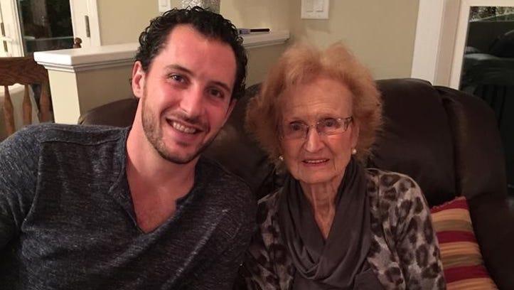 Ryan Callahan and his grandmother, Adriana Giancursio,