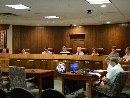 The Ocean City Council in a June 2017 meeting. On Tuesday,