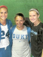 Aileen Johnson, Hannah Barreca and Shannon Johnson pose together.