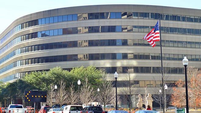 The Landmark Center is located on Capitol Street near Lamar Street in downtown Jackson.