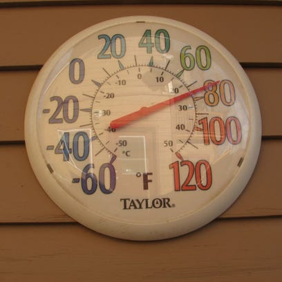 Ronda Reiding captured this photo of her thermometer